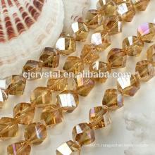 Glass beads twist for bangle bracelet