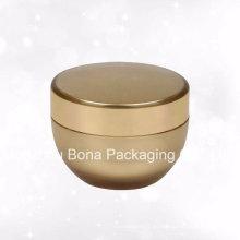 15g frascos de acrílico de la crema corporal del color oro de la moda con el casquillo de oro