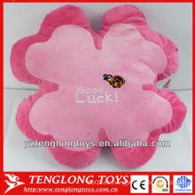Personalizado bordado relleno suave flor en forma de almohada de felpa