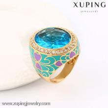 13718 Xuping новый стиль кристалл епископ кольца с 18k золото
