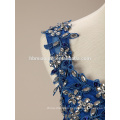 Fashion Women Blue Short Mini Soft Elegant Lace Evening Dress