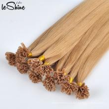 Extensiones de cabello de punta dibujada doble recta U de seda alineadas cutícula humana