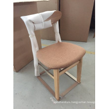Imported Modern Style Restaurant Solid Wood Chair From China