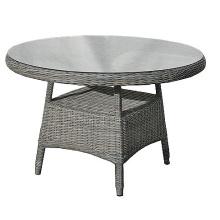 Rota al aire libre de mimbre de jardín Patio conjunto mesa de comedor