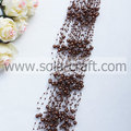 3+8MM Coffee Colors Imitation Pearl Beading Chains For Décor