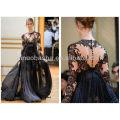 Bienvenue Robe de soirée courte à manches longues Robe de soirée formelle 2014 Sexy Sheer Lace NB025