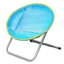 Cheap small folding stand soccer round moon chair