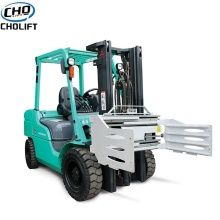 China for 4 Wheels Electric Forklift Wide Range Sideshift type Bale Clamp export to Vietnam Suppliers