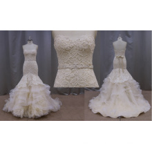 Perlée sirène robe de mariée dos nu