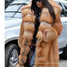 Latest Design 2021 Plus Size Winter Women Jacket Long Thick Faux Fur Hood Coats