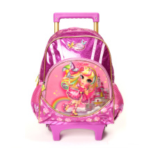 Wholesale LED Kids School Bag 3D Cartoon Trolley Backpack Bags With Wheels