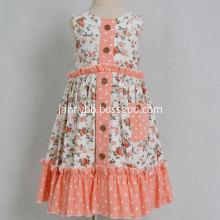 boutique baby girls ruffle dots print floral dress