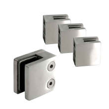 Square Glass Clamp stair railing clamp 8-10mm Stainless Steel 304