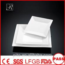 P & T Porzellan Fabrik Boot Form Platten, Servierteller, quadratische Platten