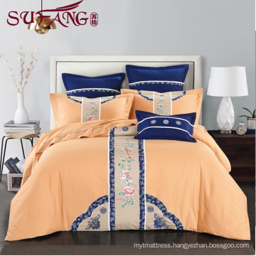 Luxury hotel Factory Directly 100%cotton 60sSatin drill Super soft cotton flax bedding sets