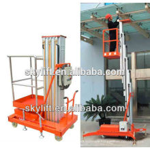 8m personal single Mast aerial work platform/ aluminum lifting table