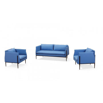 European Style Design Leather Sectional Sofa For Office