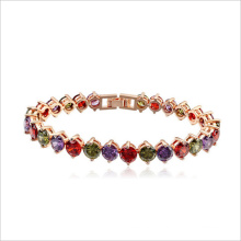 VAGULA High Quality AAA Zircon Stone Real Gold Plated Copper Crystal Bracelet Rhinestone