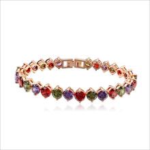 VAGULA alta qualidade AAA zircônia pedra Real ouro chapeado cobre bracelete de Cristal strass