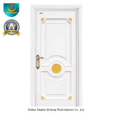 Porte en bois massif de style moderne pour chambre (ds-8029)