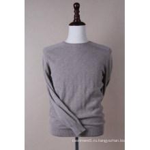 Круглый мужской проверка шеи пуловер