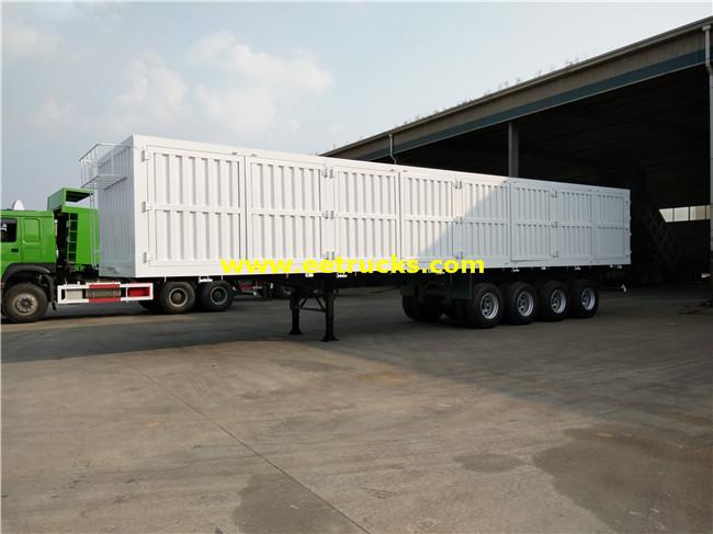 4 Axles 60ton Cargo Box Trailers