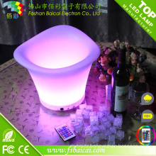 PE Plastic 16 Color Changing Rechargeable Bar LED Ice Bucket for Beer