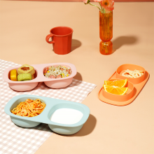 Kids Silicon Snackpot Suction Bowl Baby Dinner Set