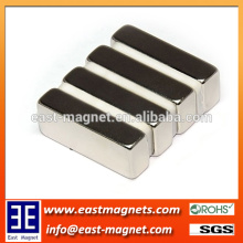 1/2''*1/4''*1/8'' block neodymium nickel coated magnet for sale/ningbo east magnet factory strong big block magnet for sale