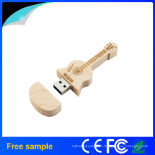 Hot Selling Guitar Wooden USB Pen Drive