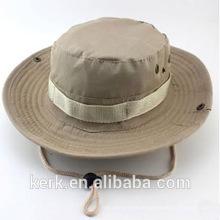 Großhandel Camo Custom Eimer Hut mit String / Eimer Cap mit Strings / Flat Bill Fischen Hüte Caps