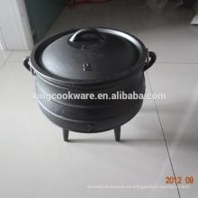 Sou8th Africa 3 patas de hierro fundido de alta calidad Potjie Pot 3 para camping