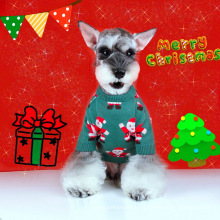 New dog and cat pet clothes French dou Schnauzer teddy Winter Christmas sweater