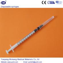 Одноразовый стерильный шприц с иглой 1мл (ЕНК-ДС-061)