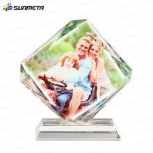 Diretamente Fábrica Pequena MOQ Hot Vendendo Alta Qualidade Natal Sublimação Em Branco Cristal Foto Bloqueio Cristal Presentes Lembranças