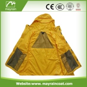 Yellow Polyester Man Jacket