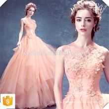 Vestido de Noite Vestido de noche rosado largo de los vestidos de noche Vestido de cena 2016 rosado de la piel Vestido largo de la ocasión especial del vestido formal