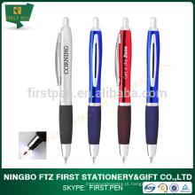 Metal Rubber Grip Light Up Tip Pen