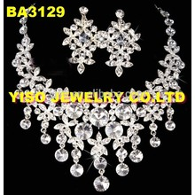 fancy crystal jewelry set