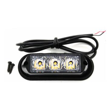 3 watts conduziram luzes instantâneas do veículo do estroboscópio mini Strobe Lighthead conduzido