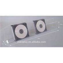 Porte-CD mural en acrylique transparent
