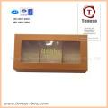 Caja de regalo de embalaje de papel de arte elegante con ventana