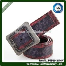 Men's Genuine Leather Wide Ceinture Vintage Buckle Belt