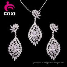 Женская мода Золото Заполненное ожерелье серьги комплект ювелирных изделий
