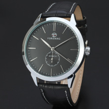 Glass Mens votre propre montre automatique logo