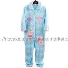 kids clothing baby girl jump suit pajama suit cute kitty cartoon