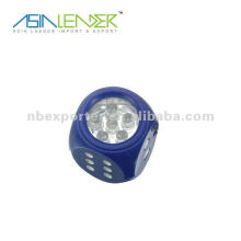 Mini dice shaped 6pcs led mini flashlight keychain