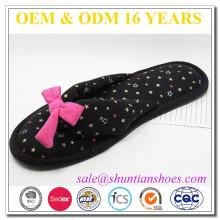 Star design senhoras engraçado flip flops chinelos para uso indoor
