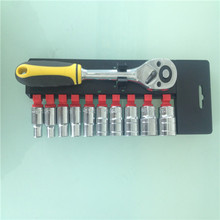 "11PCS 1/2""Socket Set Ratchet Wrench Handle"