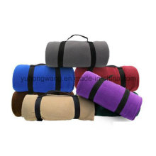 Wholesale Warm Polar Fleece Travel Blanket